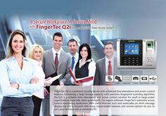 Fingertec Q2i Fingerprint Time Attendance Door Access System
