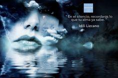 """#HédonéSensorial #Frase """"En el silencio, recordarás lo que tu alma ya sabe."""" Idili Lizcano  www.hedonesensorial.mx"""