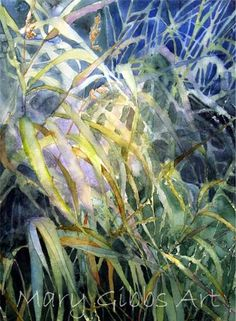 Misty Morning Grasses by Mary Gibbs