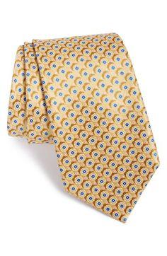 Men's Canali Medallion Silk Tie