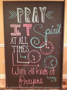 Church Chalkboard Design Ephesians 6:18