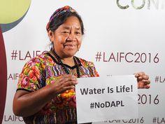 "Indigenous Peruvians stand in solidarity with the indigenous water protectors of Standing Rock.""Líderes indígenas reunidos en #LAIFC2016 apoyan la resistencia contra el proyecto Dakota Access Pipeline. #NoDAPL #StandingwithStandingRock"" via Chirapaqoficial"