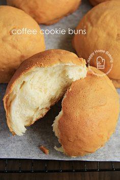 tangzhong coffee cookie buns (rotiboy)