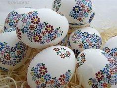 z rozkvetlé louky - husí , 8 cm / Zboží prodejce kohlrabi Easter Arts And Crafts, Easter Egg Crafts, Easter Eggs, Easter Egg Pattern, Easter Egg Designs, Easter Traditions, Egg Art, Egg Decorating, Ideas