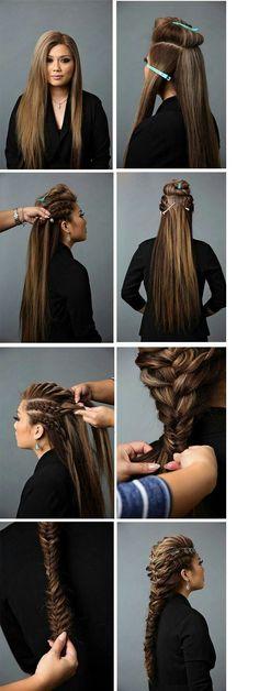 Зачіска # how to do viking Braids Pretty Hairstyles, Girl Hairstyles, Braided Hairstyles, Viking Hairstyles, Pinterest Hair, Grunge Hair, Hair Dos, Hair Hacks, Hair Inspiration