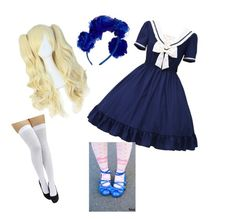 blue lolita coord by sophiec587 on polyvore