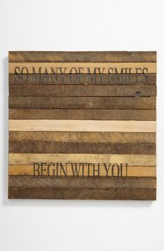 Repurposed Wood Wall Hanging available at #Nordstrom