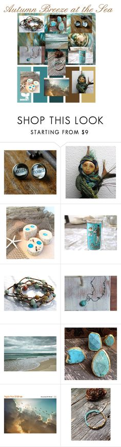 """""""Autumn Breeze at the Sea"""" by theartfullibrary ❤ liked on Polyvore featuring interior, interiors, interior design, home, home decor, interior decorating and Natural Blue"""