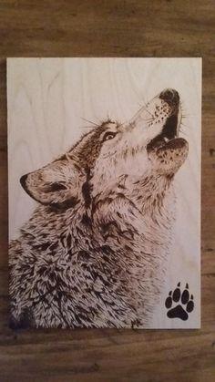 Wolf pyroart by Mies