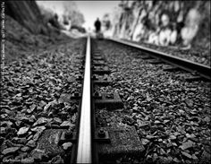 Train trail | black and white photography