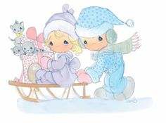 precious moments winter   We hope you enjoyed these Precious Moments Clipart pictures. I hope ...