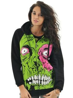 "IRON FIST: ""Zombie Chomper"" hoodie (XS?)"