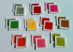 Felt Fabric Memory Game Block Colors MINI by MyPipouneShop on Etsy, $30.00