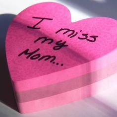 I miss my Mom. Theres not a day that goes by that I dont think of her ...