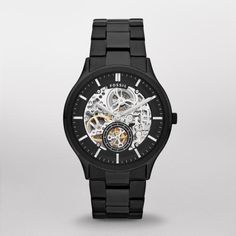 Fossil Watch, Men's Automatic Ansel Black Ion Plated Stainless Steel Bracelet - All Watches - Jewelry & Watches - Macy's Black Stainless Steel, Stainless Steel Watch, Stainless Steel Bracelet, Relic Watches, Fossil Watches For Men, Men's Watches, Luxury Watches, Dress Watches, Fashion Watches