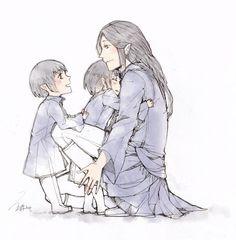 Elrond+Elros+Maglor by vampiry on deviantART