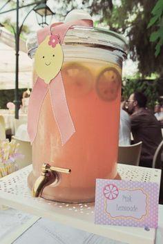 Pink Lemonade despenser.