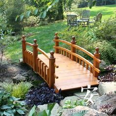 Placed over your pond, stream or your Japanese style dry riverbed, our wooden bridges will add a graceful touch to your garden and provide a lovely place for meditation and contemplation.