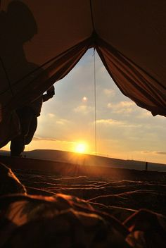 A beautiful sunrise while camping with your favorite someone = ...BLISS....