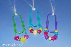 Love Bug Living: Jumbo Paperclip Necklace - Girl Scout Swaps