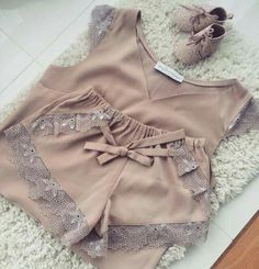 Cute Sleepwear, Lingerie Sleepwear, Lingerie Set, Nightwear, Girl Outfits, Cute Outfits, Fashion Outfits, Pijamas Women, Pretty Lingerie