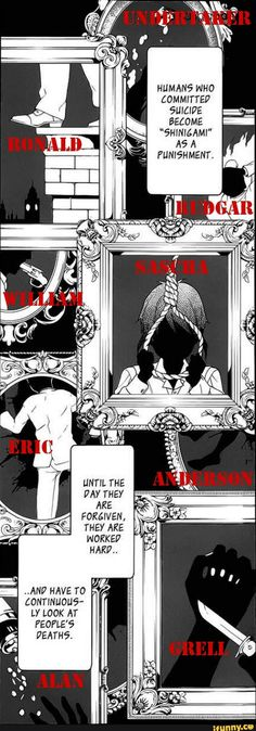 Humans who commited suicide become Shinigami - black butler, kuroshitsuji, , shinigami
