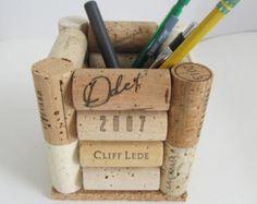 Waben Wein Korken Coaster mit braunen von LizzieJoeDesigns auf Etsy