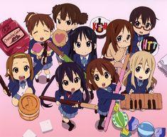K-On! | Kakifly | Kyoto Animation / Hirasawa Yui, Tainaka Ritsu, Akiyama Mio, Kotobuki Tsumugi, Manabe Nodoka, Nakano Azusa, Hirasawa Ui, Yamanaka Sawako, and Suzuki Jun