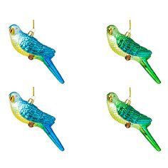 Green & Blue Parrot Decorations | Designers Guild USA