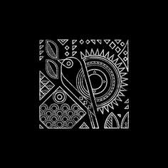 Birds on Behance Geometric Graphic Design, Geometric Art, Madhubani Art, Madhubani Painting, Worli Painting, Fabric Painting, Stencil Patterns, Pattern Art, Line Art Projects