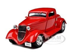 1934 Ford Coupe Hard Top Red 1/24 Diecast Model Car by Unique Replicas  $25.49