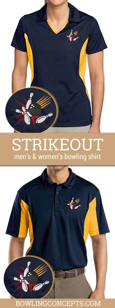 """Let the strikes roll if not at least the good time. Not just a sharp looking bowling shirt —it's"""" cool to wear"""" with performance technology & snag resistant, too."""