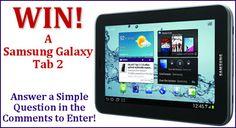 Win a Samsung Galaxy Tab 2!