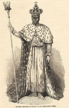 1849- Faustin Soulouque, President of Haiti, has himself crowned Emperor.  A freed slave, Soulouque had fought in the Haitian Revolution and worked his way up through the military of the new state.  Appointed president at age 65 by Haiti's ruling elite because they thought he would be malleable, he surprised them by establishing a secret police and removing old power brokers from their positions through layoffs and/or murders.  Soulouque's bid for personal autocracy will last almost ten…