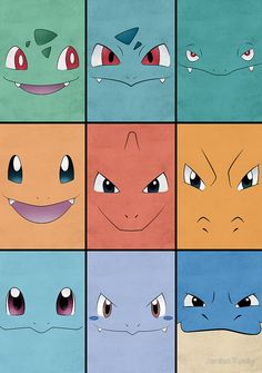 Kanto Starters Pokemon Poster Charizard Blastoise Venusaur by Jorden Tually Pokemon Poster, Pokemon N, Pokemon Room, Pikachu, Pokemon Craft, Pokemon Party, Pokemon Faces, Pokemon Charizard, Charmander