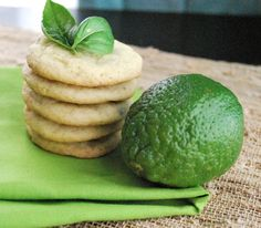 Basil Lime Cookies. Incredibly refreshing! | Betsylife
