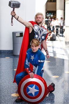 Captain America and Thor (Avengers) #Cosplay #AX2014
