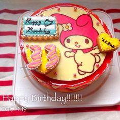 頼まれケーキ。 イチゴがだんだん終わりに近づいてきて淋しい… - 70件のもぐもぐ - マイメロ♡バースデーケーキ♡フレジェ by YUKO