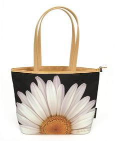 Look what I found on #zulily! White & Yellow Daisy Favorite Tote by Passion for Fashion #zulilyfinds