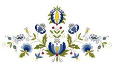 Heklowana zapaska: Kaszubski strój ludowy... dla Amelki