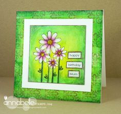 Annabelle Stamps Blog: Topical Tuesday #56 - Mixed Media Card