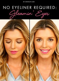 Eye liner doesn't have to make or break a look - this tutorial shows you how to do a complete makeup look sans the liner!