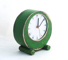 Excited to share the latest addition to my #etsy shop: Desk Clock Circle Green, Table Clock, Rustic Home Decor, Table Wood Unique Clock, Fall decor, Autumn decor, Office desk decor http://etsy.me/2zccRVh #housewares #clock #handmade #circle #giftideas #woodclock #table