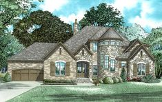 See the Haworthshire European Home that has 4 bedrooms, 3 full baths and 1 half bath from House Plans and More. See amenities for Plan Stone House Plans, Castle House Plans, Best House Plans, European Plan, European Style Homes, European House Plans, Suburban House, Story House, House Colors