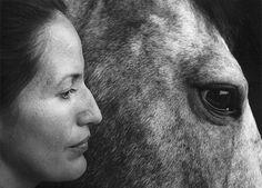 Flor Garduño :: selfportrait [with horse], nd
