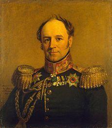 Portrait du comte Alexandre von Beckendorff, œuvre de George Dawe, Musée de la Guerre du Palais d'Hiver, musée de l'Ermitage, Saint-Pétersbourg.