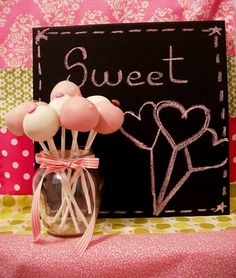 sweet display for cake pops