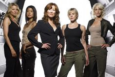Battlestar Galactica delivered on strong female characters, pinned from http://inveteratemediajunkies.com/2012/01/25/imj-question-of-the-week-where-have-all-the-strong-female-characters-gone/