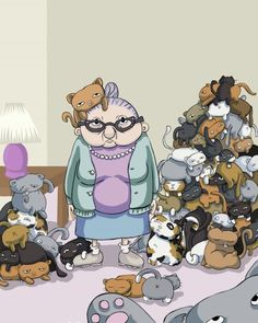 Crazy cat lady... one day . . . . If my fiance wasn't around, this would totally be me