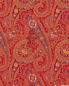 Rue Indienne - Maharaja's Paisley - Cinnabar Red eq